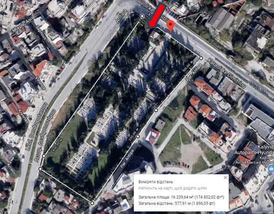 Thessaloniki New Jewish Cemetery map