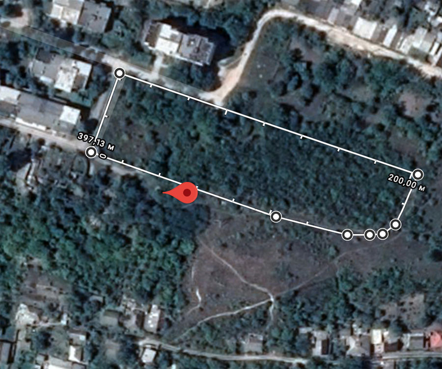 Rezina Old Jewish Cemetery map