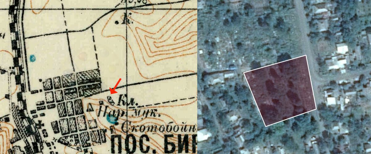 Podil's'k New Jewish Cemetery drone survey old map and perimeter